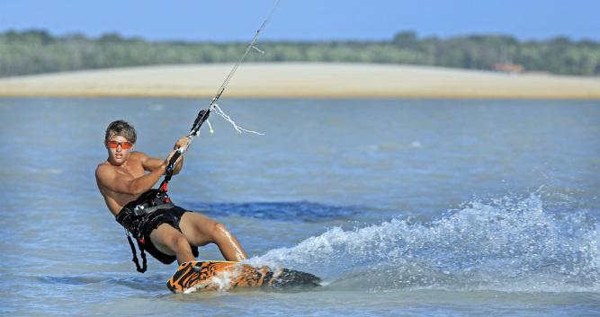 Kite-surfing at Jericoacoara, Brazil