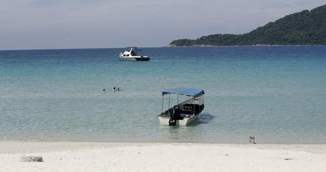 White sandy beach, Perhentian Islands, Malaysia