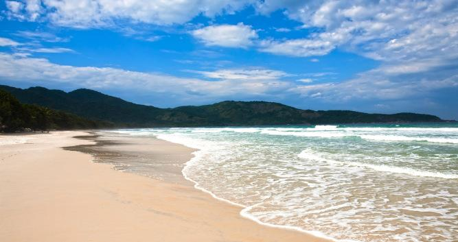 The picturesque Lopes Mendes Beach, Ilha Grande, Brazil