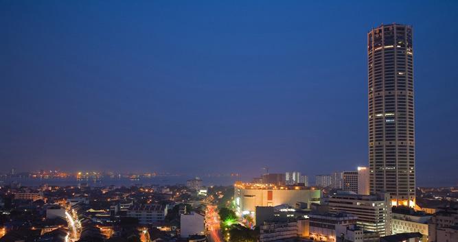 The city at night, Penang, Malaysia