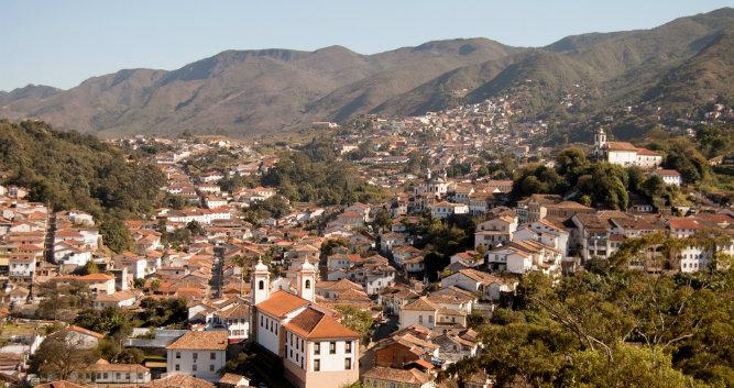 A  view of historic Ouro Preto, Minas Gerais, Brazil