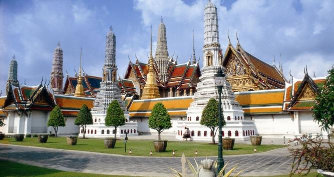 Exterior shot of the Royal Palace, Bangkok, Thailand