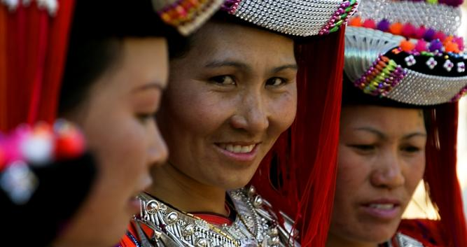 Hill tribe girls, Northern Thailand