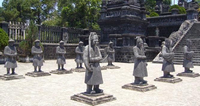 Tu Duc Statues, Hue, Vietnam