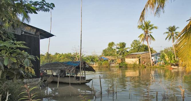 Village scenery, Mekong Delta, Vietnam