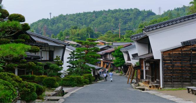 Tsumago, village on the Samurai trail, Japan