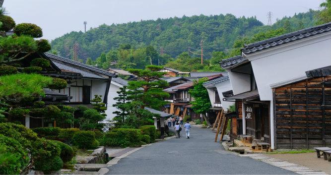 Tsumago, village on the Samurai trail, Japan