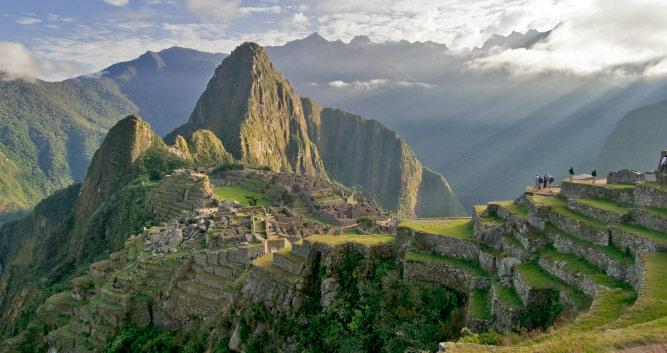 Machu Picchu full shot, near Cusco, Peru, South America