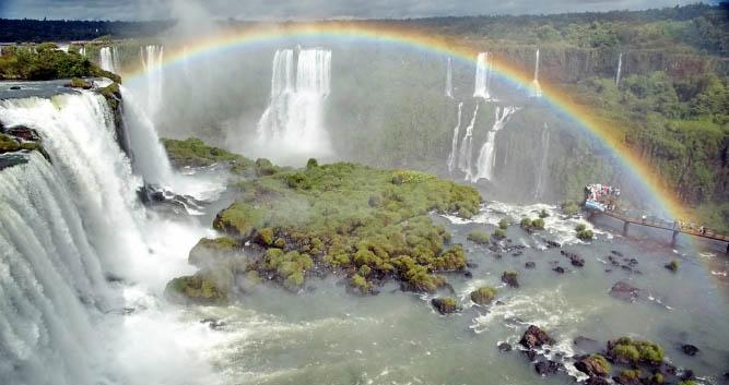 The mighty Iguassu Falls, Brazil