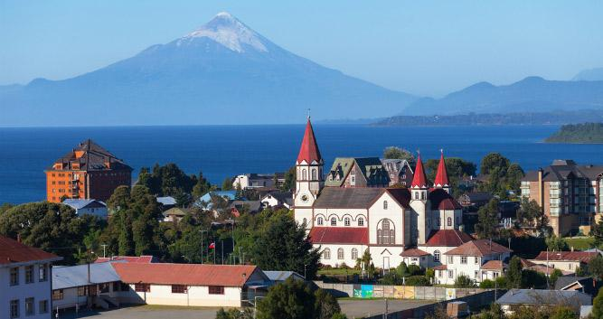 Church in Puerto Varas, Chile, South America
