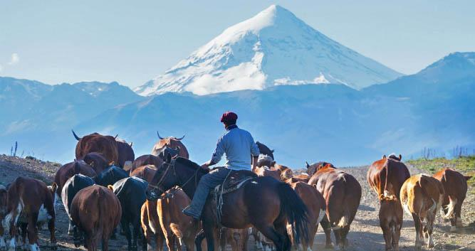 Cattle farmers, remote Argentina, South America