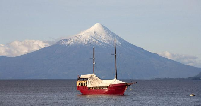 Yacht, Puerto Varas, Chile, South America