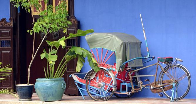 Traditional trishaw, Penang, Malaysia
