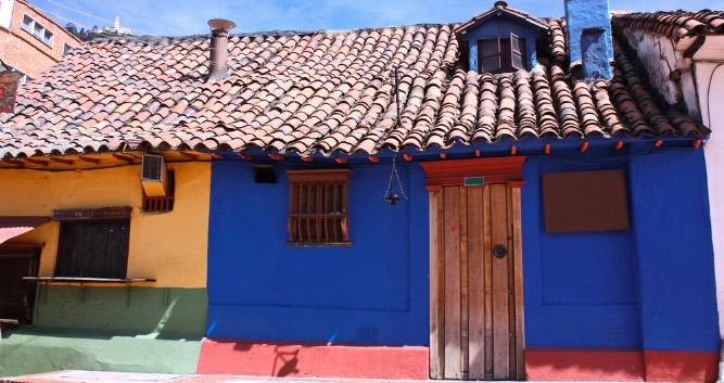 Colourful loocal buildings, Colombia, South America