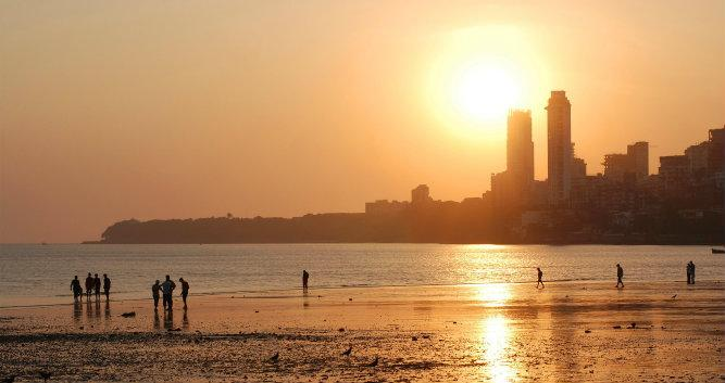 Sunset in Mumbai, India