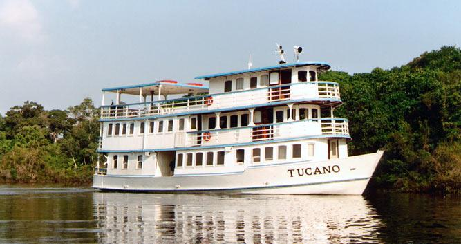 The MV Tucano, Amazon Rainforest, Brazil