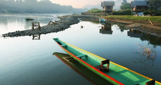 Canoeing, Vang Vieng, Laos