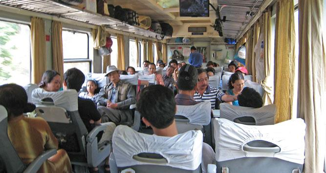 People on board the Renuification Express train, Vietnam